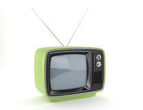 Retro TV verde Immagine Stock