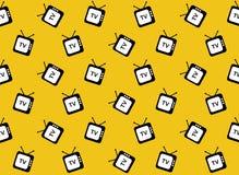 Retro tv web icon. Seamless pattern. Stock Photos