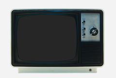Retro TV on white background Royalty Free Stock Image
