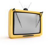 Retro tv with wipers Royalty Free Stock Photography