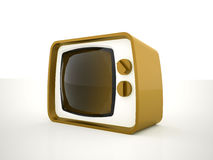 Retro tv yellow Royalty Free Stock Photo
