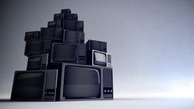 Retro TV z ładunkiem elektrostatycznym