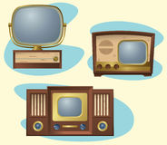Retro TVs Royalty Free Stock Photos