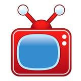Retro TVSet royaltyfri illustrationer