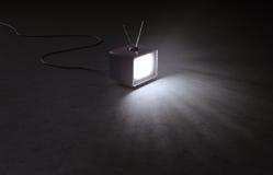 Retro TVuppsättning royaltyfri bild