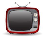 Retro TVuppsättning Arkivbild