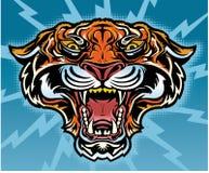 Retro Tygrysi tatuaż Fotografia Royalty Free