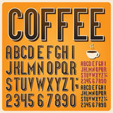 Retro typ chrzcielnica, rocznik typografia. Obrazy Royalty Free
