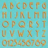 Retro typ chrzcielnica, rocznik typografia Obraz Royalty Free