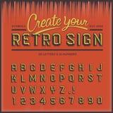 Retro typ chrzcielnica, rocznik typografia Zdjęcia Royalty Free