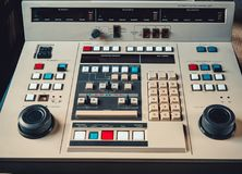 Retro type editing equipment. Automatic Editing Control Unit for video type recorders stock image