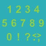 Retro type font Stock Image