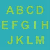 Retro type font Royalty Free Stock Image