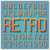 Retro type font, vintage typography . Retro type font, vintage typography ,Illustratiom EPS10 vector illustration