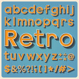 Retro type font, vintage typography . Stock Photo