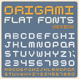 Retro type font, vintage typography . Origami Flat type font, vintage typography ,Illustratiom EPS10 Royalty Free Stock Images