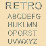 Retro type font, vintage typography Royalty Free Stock Images