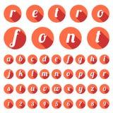 Retro typedoopvont, uitstekende typografie Royalty-vrije Stock Afbeelding