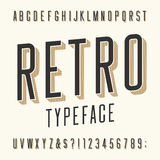Retro typeface. Letters, numbers and symbols. Royalty Free Stock Photography