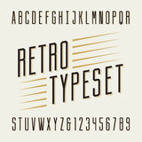 Retro typeset. Letters and numbers. Stock Image