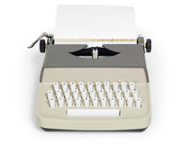 Retro Typewriter. Isolated on white background with clipping path Stock Photos