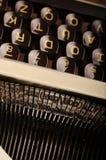 Retro Typewriter. Close up photo of an old typewriter Stock Photo