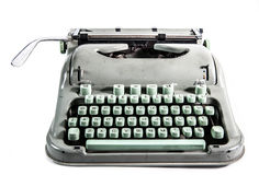 Retro typewriter. Grunge style on the white background Royalty Free Stock Photos