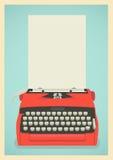 Retro typewriter background Royalty Free Stock Photo