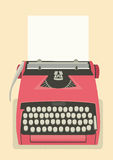 Retro typewriter background Stock Photography