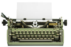 Retro typewriter with blank paper Stock Images