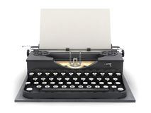 Retro typewriter and blank sheet Stock Photography