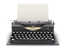 Retro typewriter and blank sheet vector illustration