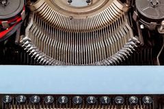 Retro typewriter close up with number keys Royalty Free Stock Photo