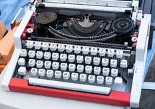 Old cyrillic typewriter Stock Images