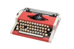 Retro typewriter with cyrillic keyboard layout Stock Image
