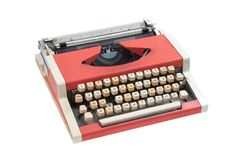 Retro typewriter with cyrillic keyboard layout Royalty Free Stock Photos