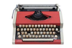 Retro typewriter with cyrillic keyboard layout Royalty Free Stock Photo