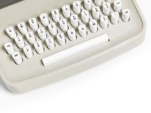 Retro Typewriter Keyboard Stock Photos