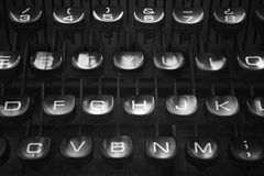 Retro typewriter keys Royalty Free Stock Photography