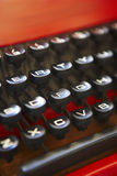 Retro typewriter keys Royalty Free Stock Image