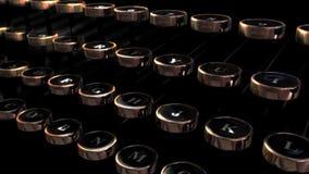 Retro Typewriter Keys. Looping Animation of a Retro Typewriter stock video