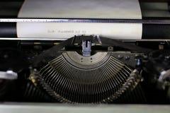Retro typewriter letter Royalty Free Stock Image