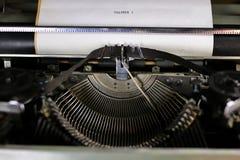 Retro typewriter letter Royalty Free Stock Photography
