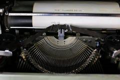 Retro typewriter letter Stock Images