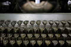 Retro typewriter letter Stock Image