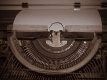 Retro Typewriter Machine Old Style. Royalty Free Stock Image