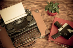 Retro typewriter Stock Image