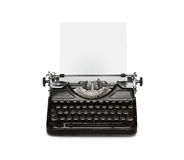 Retro typewriter with paper sheet Stock Photos