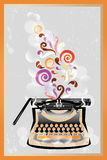 Retro typewriter poster. Colorful retro typewriter poster - available as jpg and eps-file royalty free illustration