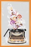 Retro typewriter poster Stock Image
